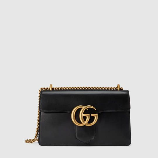 Gucci Sac à épaule GG Marmont en cuir   bags b02828674e7