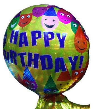 Happy Birthday Smiley Foil Balloon