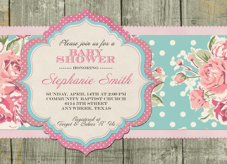 b63870cad5fa Shabby Chic Invitations