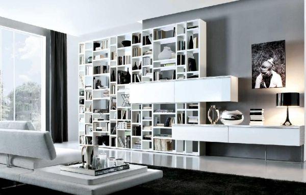 Wohnzimmer Italienisch ~ Italienische möbel weiß bücherregal weiß artaround pinterest