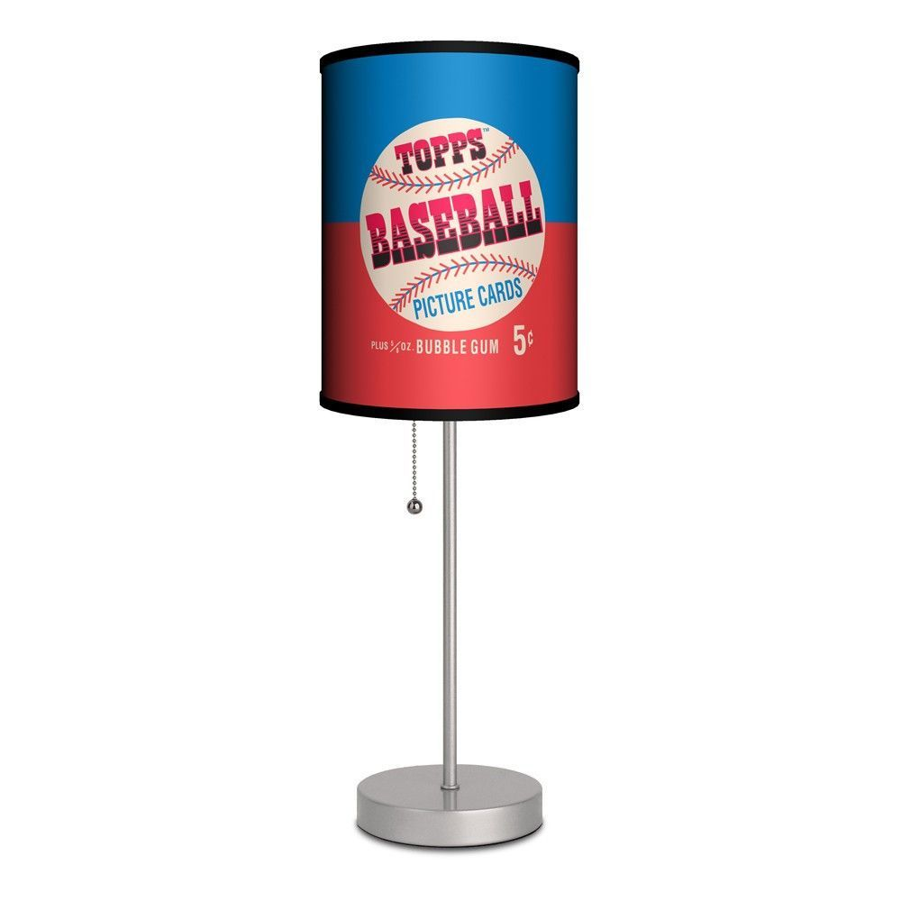 Topps baseball gum wrapper 1953 lamp products pinterest products hit a style homerun with this retro cool baseball lamp perfect for your little sluggers room game room or man cave the shade features the design of a geotapseo Image collections