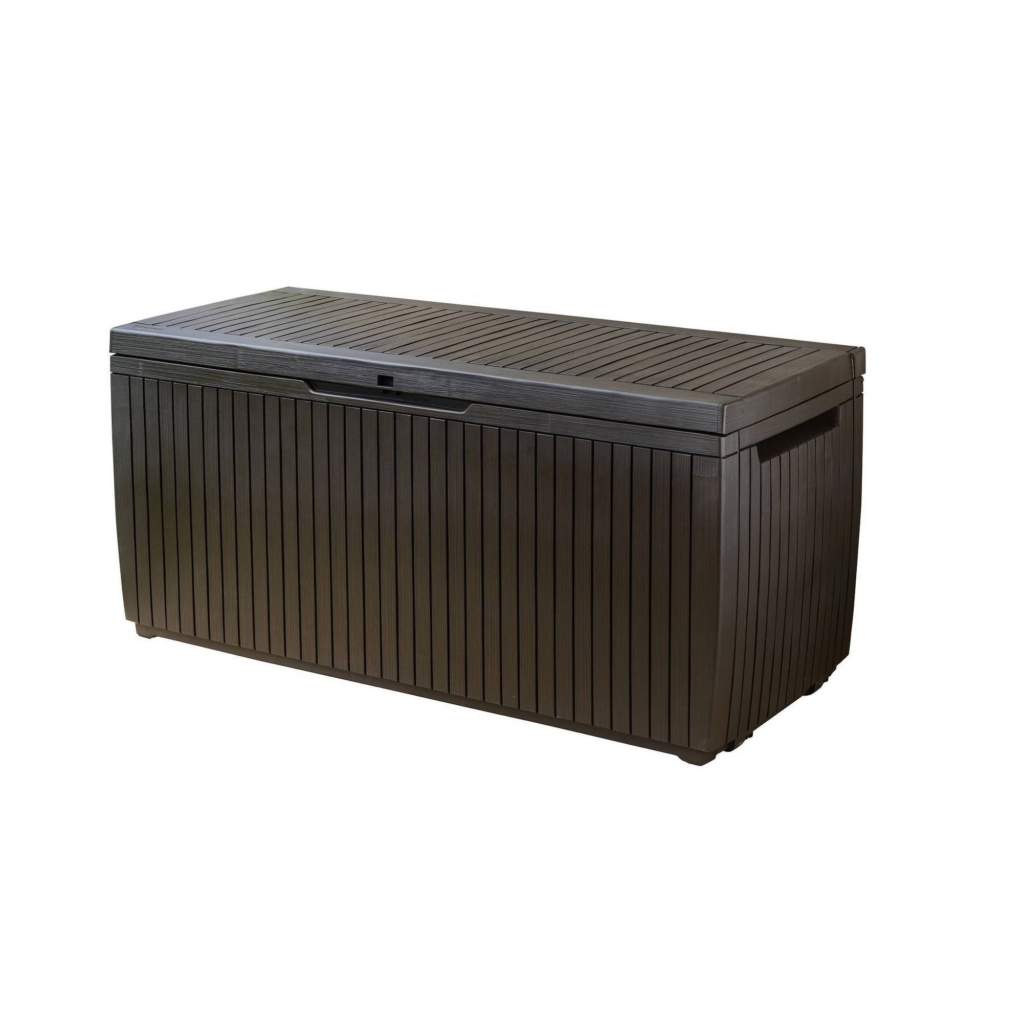 80 Gal Springwood Outdoor Resin Storage Deck Box Brown Keter Patio Storage Patio Storage Bench Deck Box