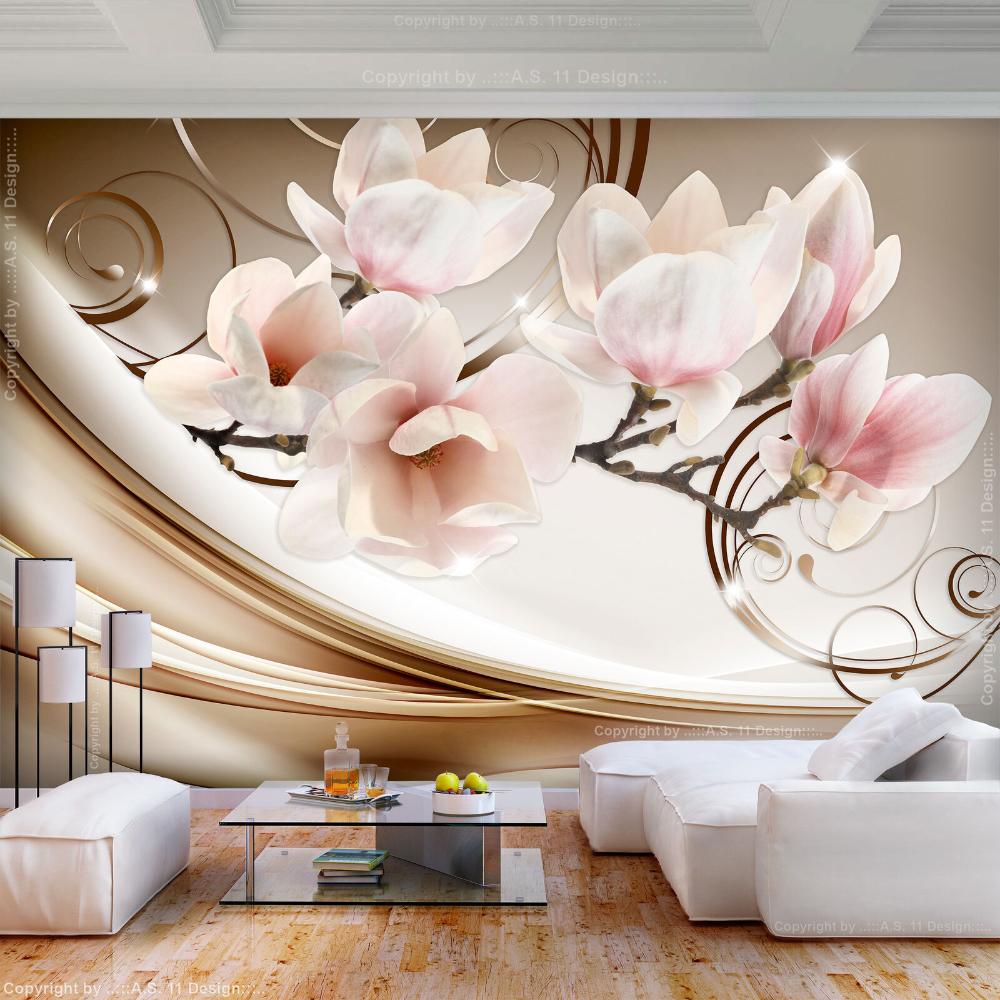 VLIES FOTOTAPETE Rot Blumen 3D Tapete XXL Vliestapete