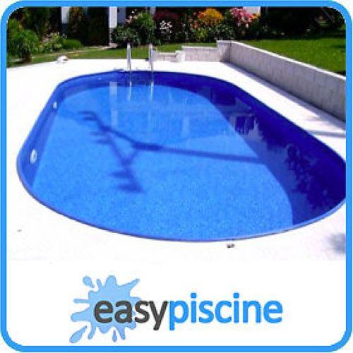 kit piscine acier a enterrer 8 x 4 16 x ht 1 50 m ovale. Black Bedroom Furniture Sets. Home Design Ideas