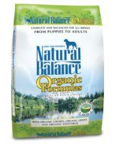 Natural Balance Organic Formula Dry Dog Food 12 5 Pound Bag Dog