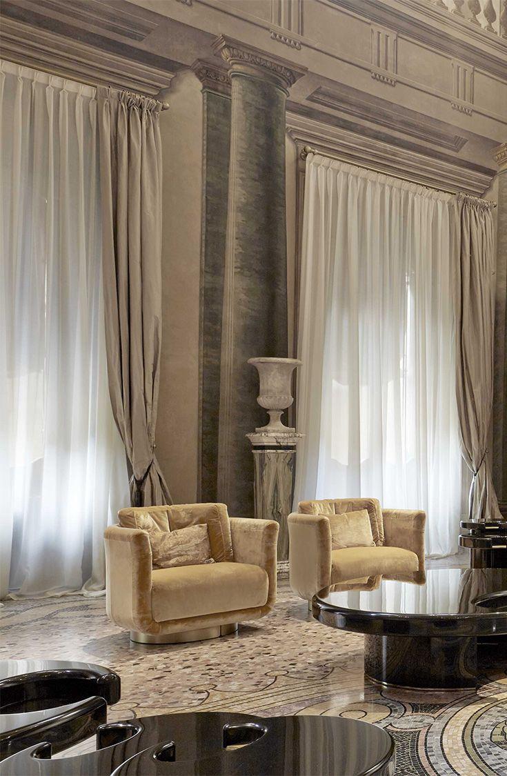 8f11073177b Fendi Casa Artu armchair by Thierry Lemaire in Palazzo Orsi Mangelli