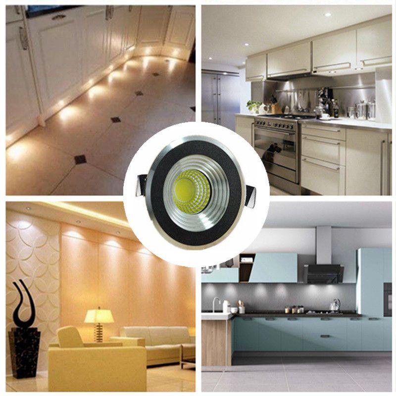 5 x 3w LED Recessed Small Cabinet Mini Spot Lamp Ceiling Downlight Kit Fixture