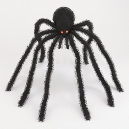 One of my favorite discoveries at WorldMarket Large Hairy Black - spiders for halloween decorations
