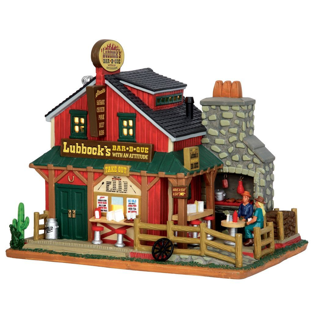 55950 Lubbuck's BBQ Christmas village houses, Lemax
