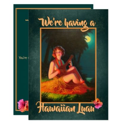 Hawaiian Luau Party Invitation   Zazzle.com #hawaiianluauparty