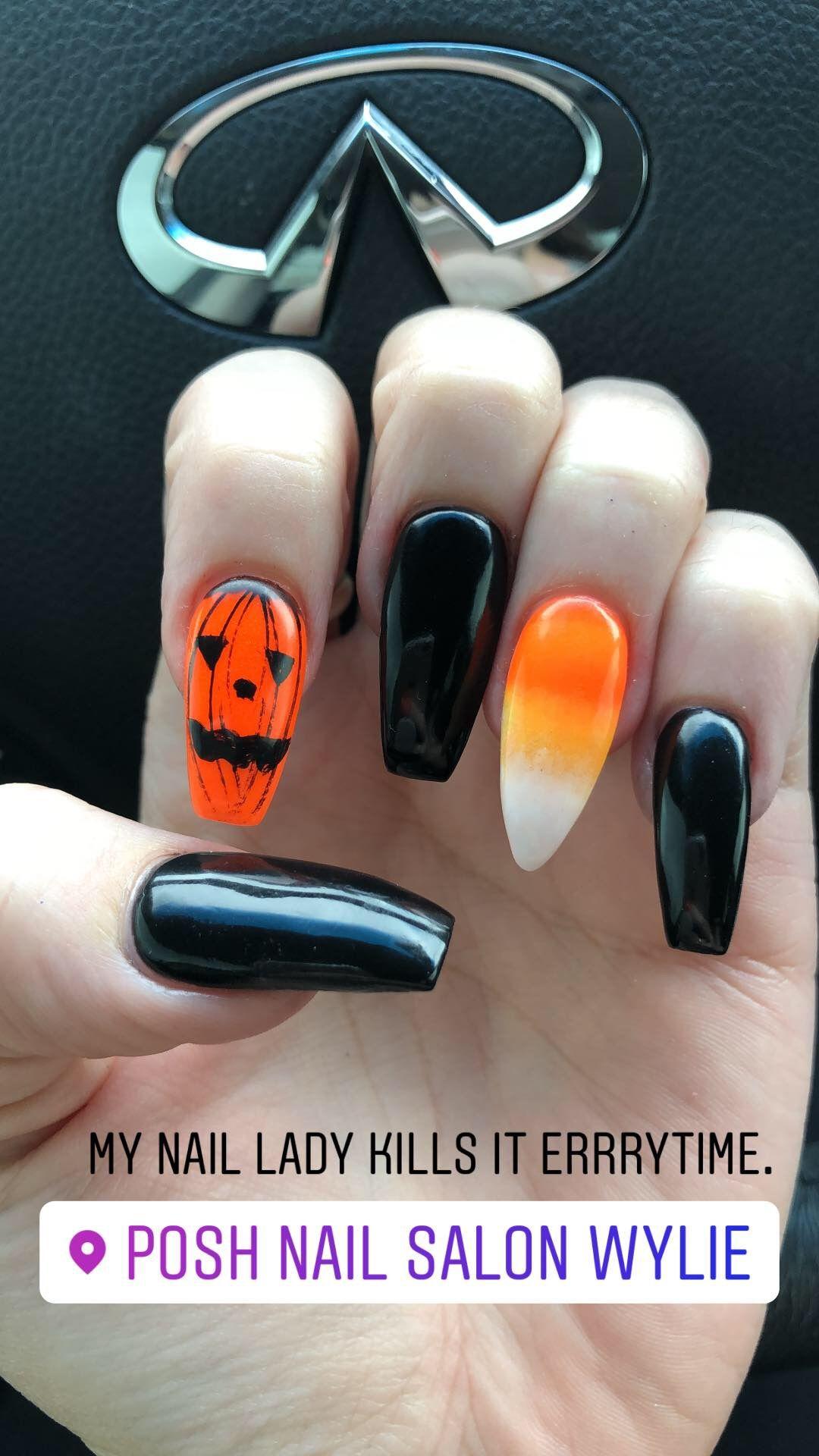 Halloween Nails Nexgen Dip Powder Long Nails Coffin Nails Stilleto Nail Nexgen Nails Holloween Nails Halloween Nails