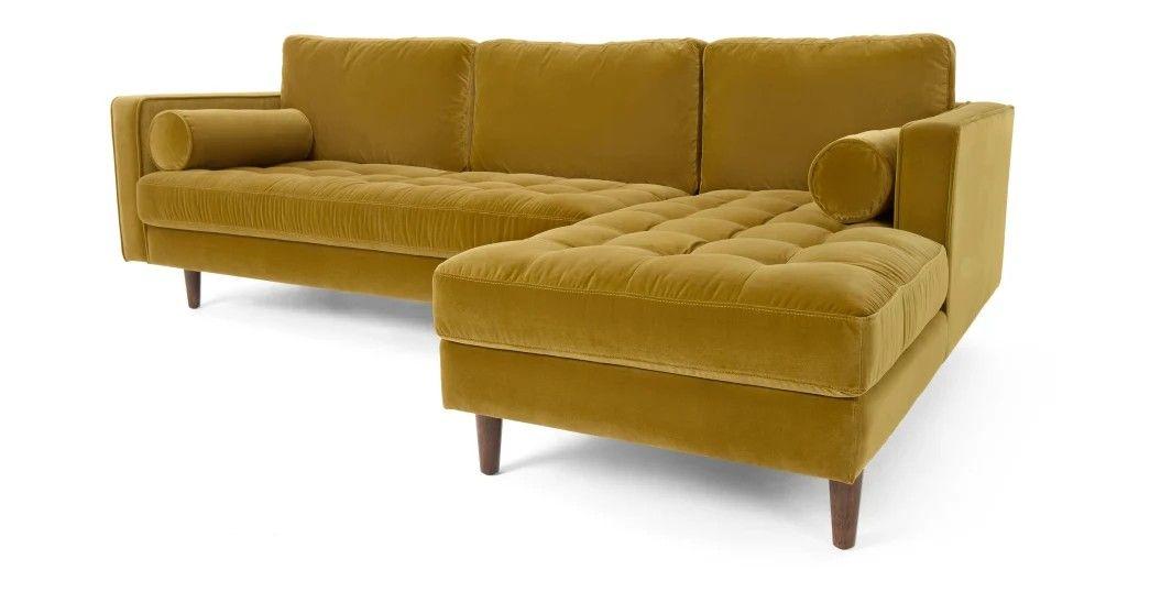 Pin By Audrey Star On L I V I N G R O O M In 2020 Gold Sofa Corner Sofa Chaise