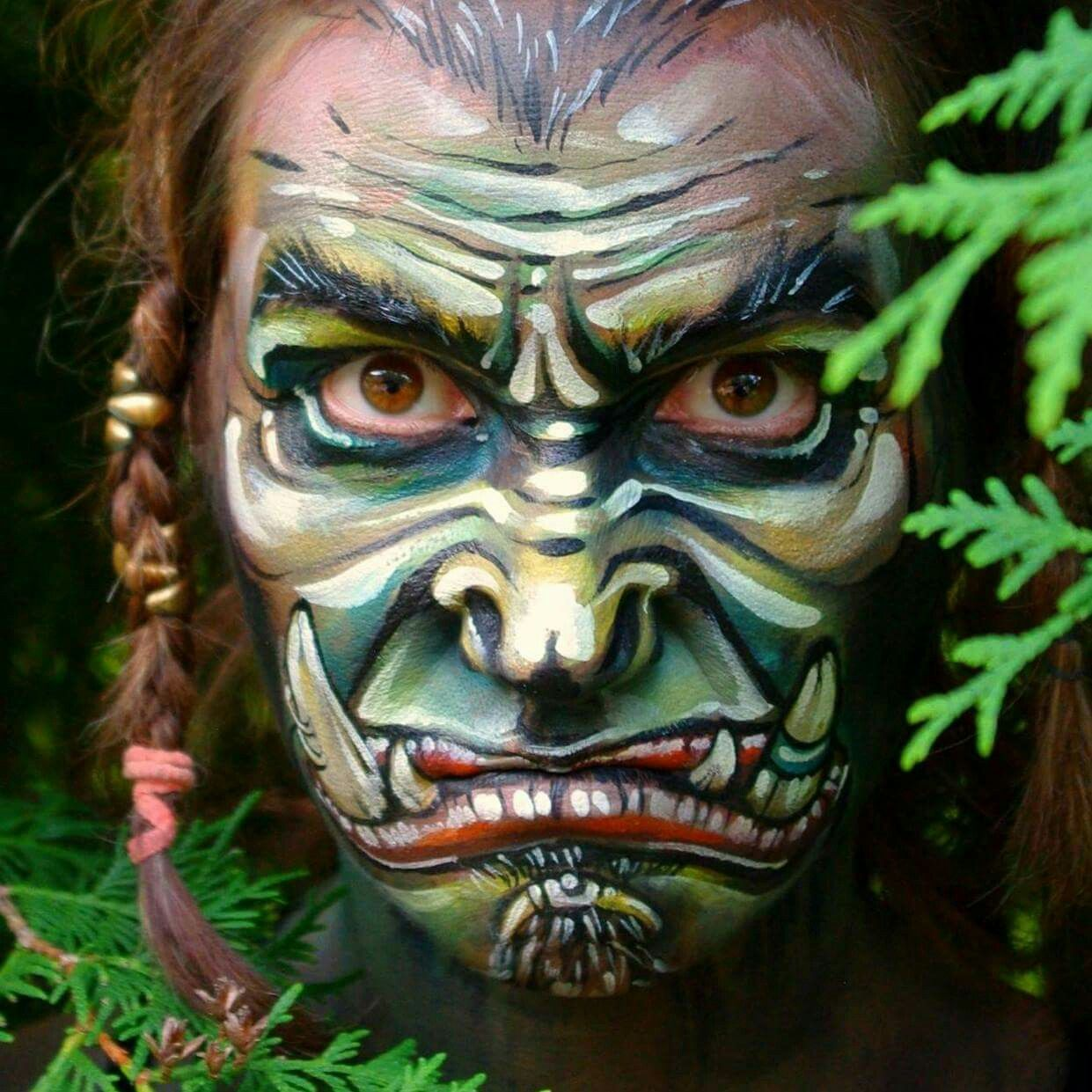 Tsnya Maslova Worlds of Warcraft Face Painting Design