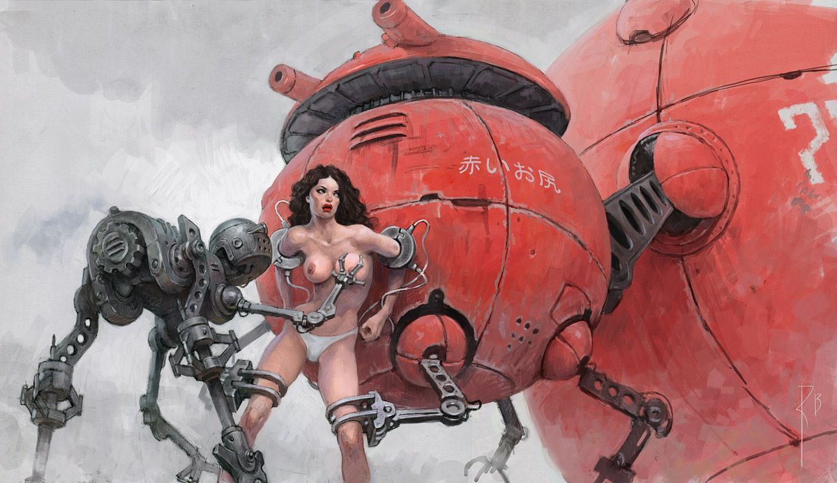 Sexy science fiction art