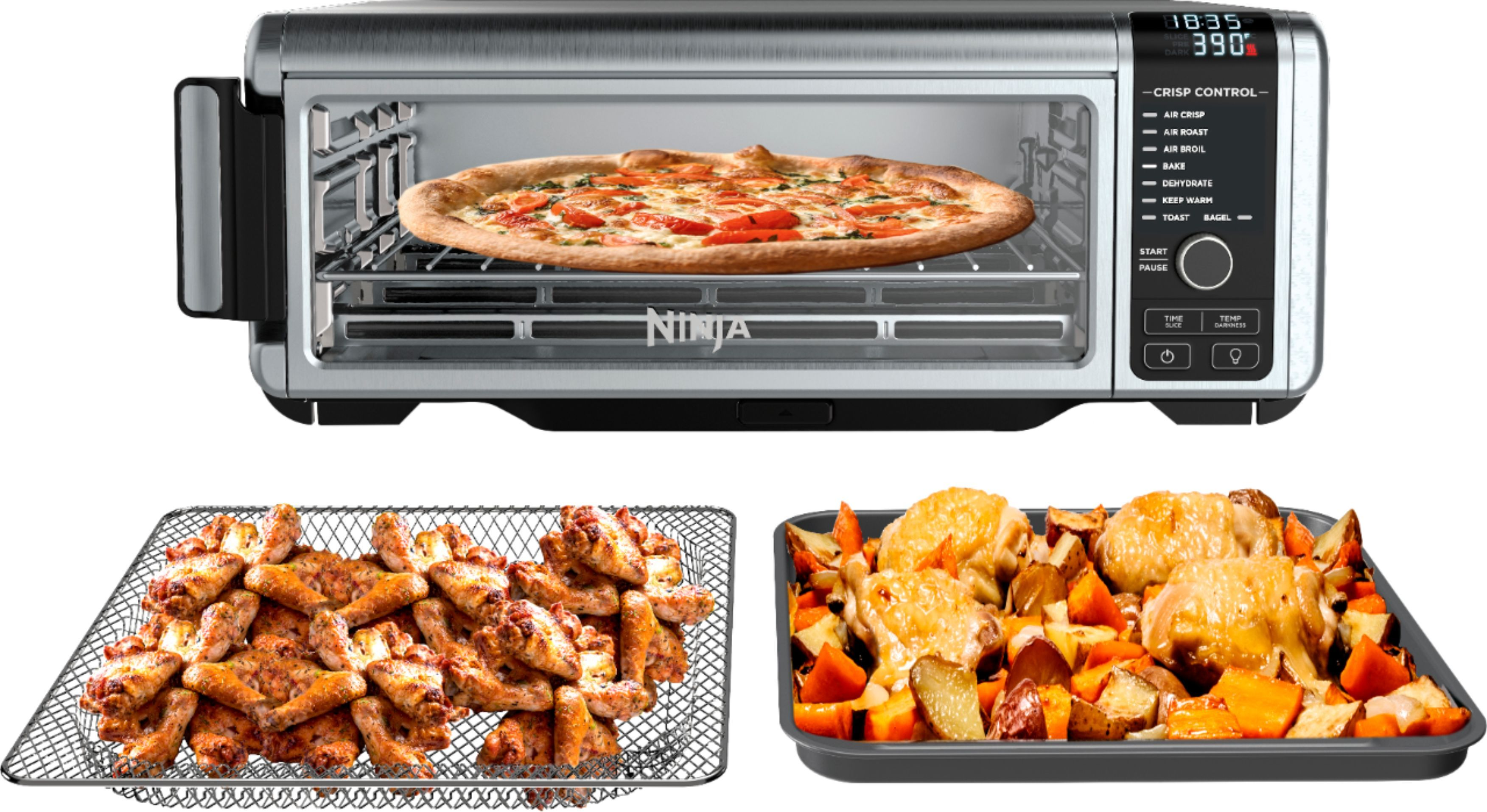 Shop Ninja Toaster Oven with Air Fryer Stainless Steel