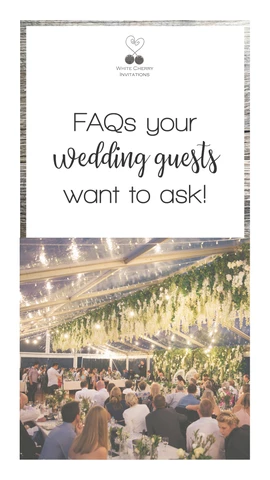 FAQs your wedding guests want to ask you Wedding guest