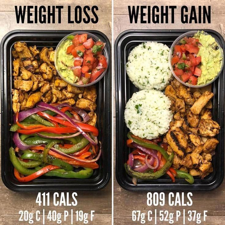 Weight Loss vs Weight Gain Meal Prep Tips tag a friend  visit Taste