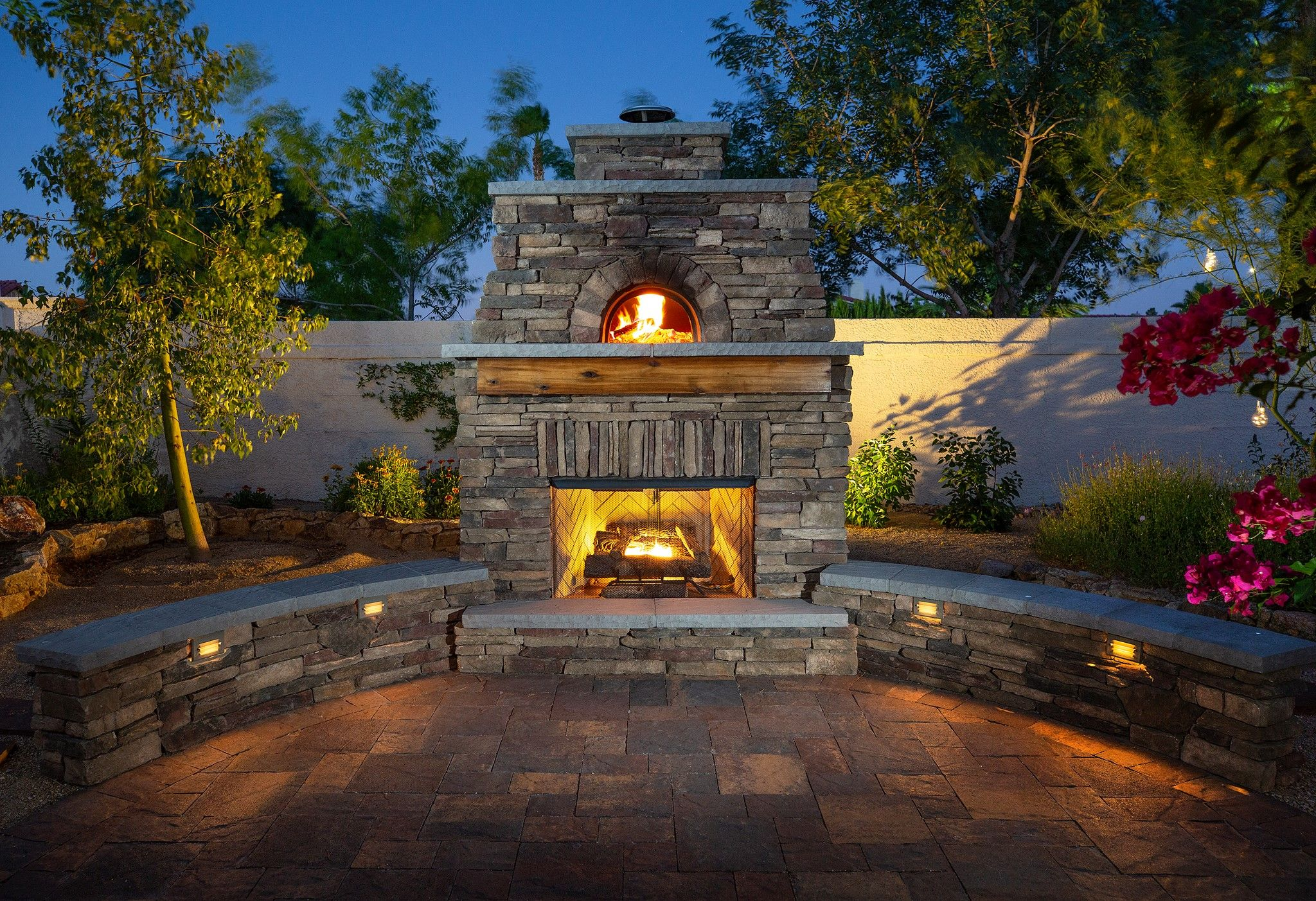 Forno Bravo Outdoor Fireplace Gallery Outdoor Fireplace Kits