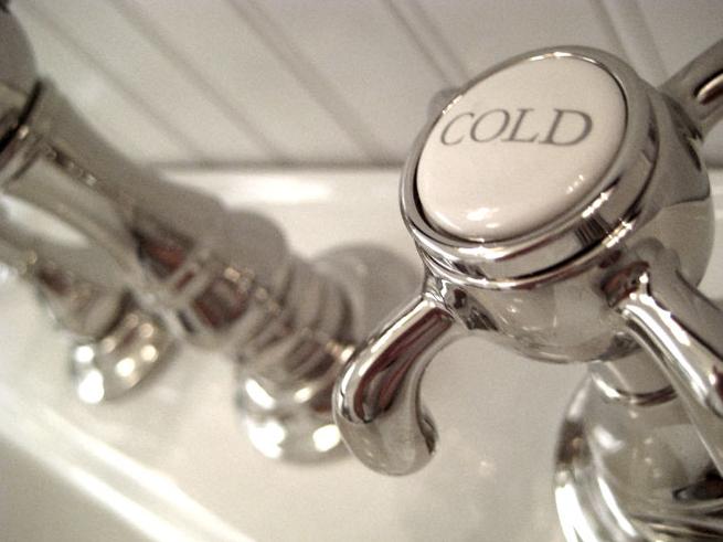 Summer Thornton Design Bathrooms Beadboard Vintage Hot Cold Faucet Kit And Bathroom