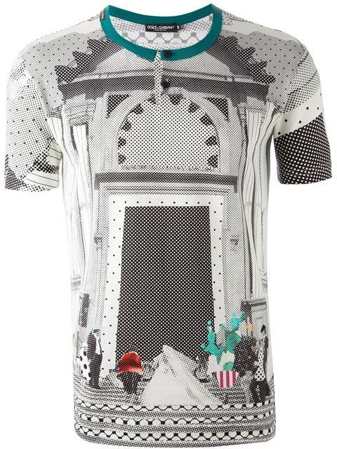 c72234d20 Dolce & Gabbana 'sicilian Mambo' Print T-shirt - Gisa - Farfetch.com ...