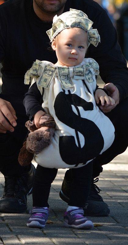 Money Bag Baby Costume Stroller