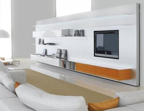 wall panel design for flat screen tv placement 4 - Modern Wall Paneling Designs