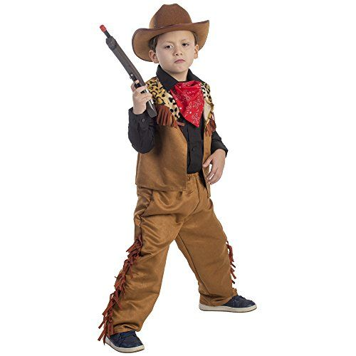 Texan Cowboy Costume /& Hat Childrens Boys World Book Day Week Fancy Dress Outfit