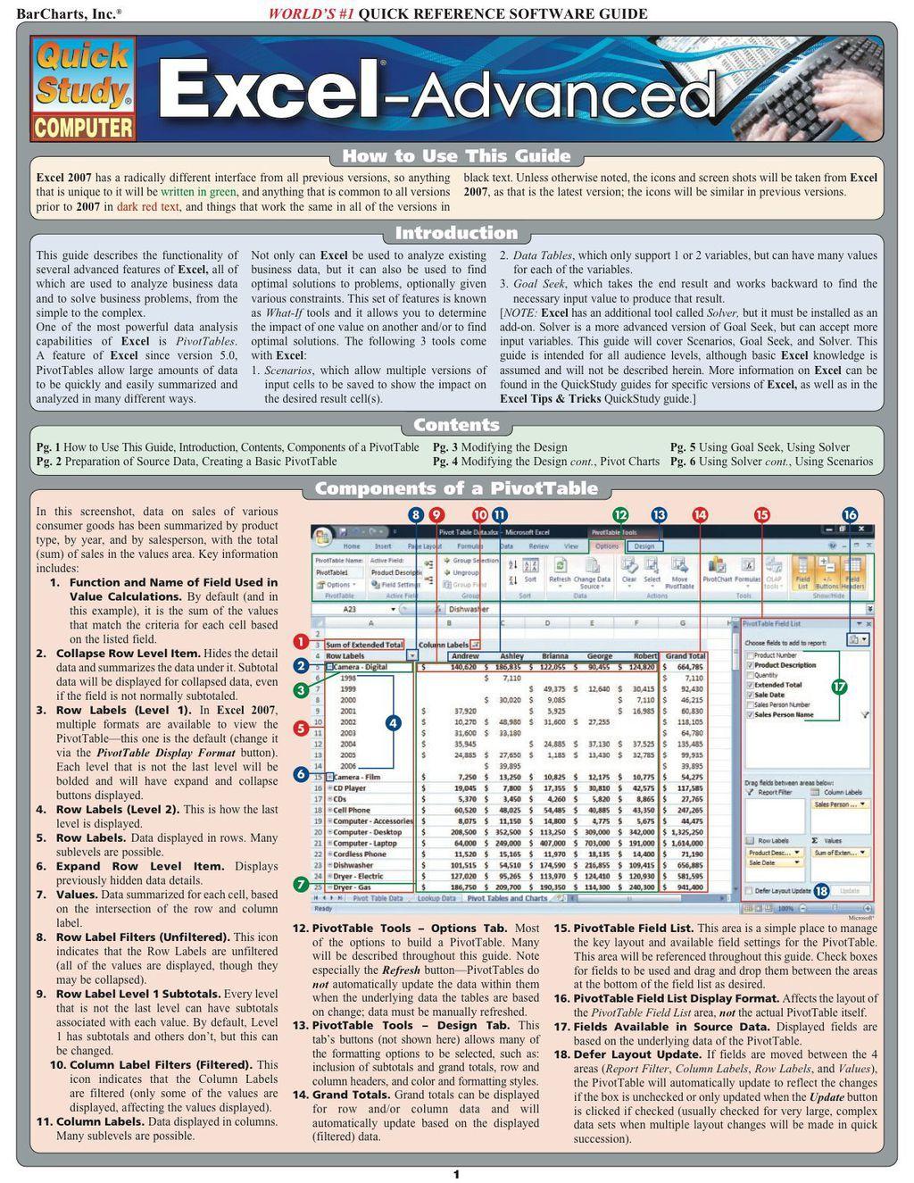 Excel Advanced Ebook