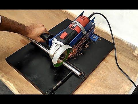 how to make angle grinder stand angle grinder hack flexa pinterest flasche schneiden. Black Bedroom Furniture Sets. Home Design Ideas