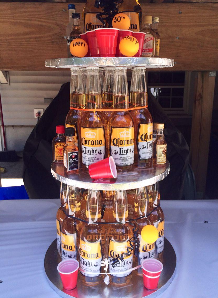 30th birthday corona beer pong beer cake beer birthday