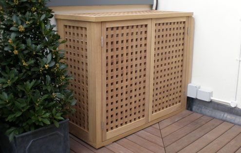 Air Conditioner Unit Cover Wood Fancy Decorative Air