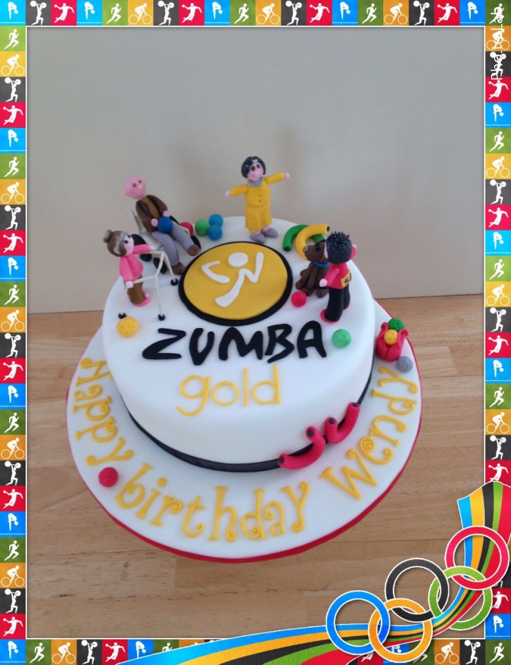 Zumba Gold Themed Exercise Birthday Cake Things For Mom