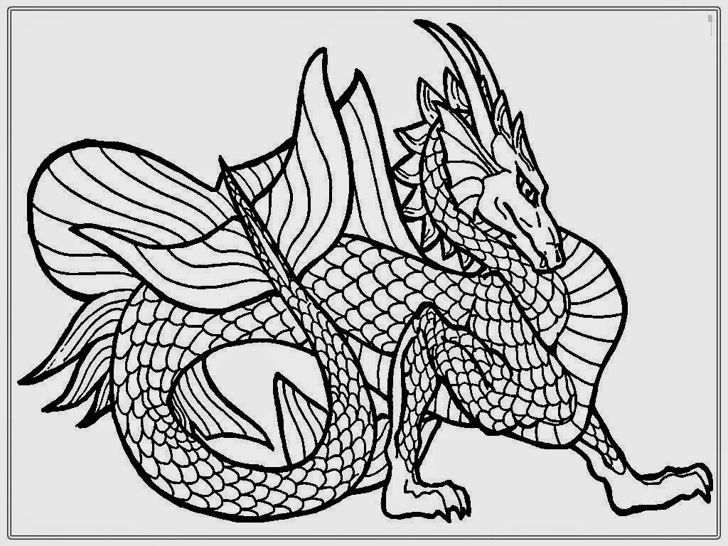 Dragon Coloring Pages For Adults | Coloring Pages | Pinterest