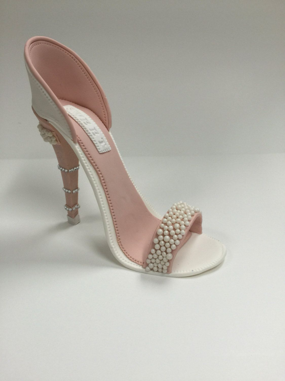 Gumpaste High Heel Shoe/ Cake Topper/Gum Paste Shoe/Sugar High Heel/High Heel Topper/Fondant High Heel/Fondant Shoe/ Gift For Her by SweetCakeFetish on Etsy