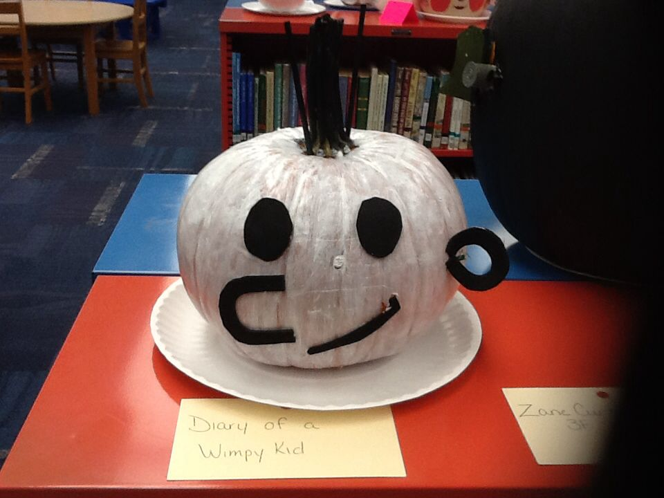 Diary of a wimpy kid literary pumpkins pinterest kid for Diary of a wimpy kid crafts