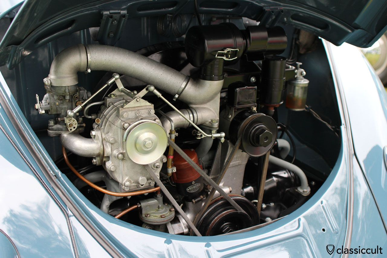 Superb split window beetle engine view