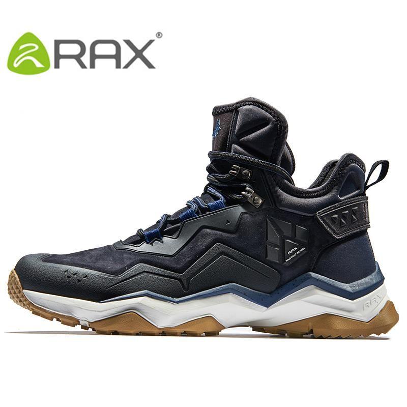 RAX Mens Waterproof Hiking Shoes Mountain Hiking Boots Genuine Leather Men Breathable  Waterproof Trekking Shoes Outdoor Man 78748c2cf83d