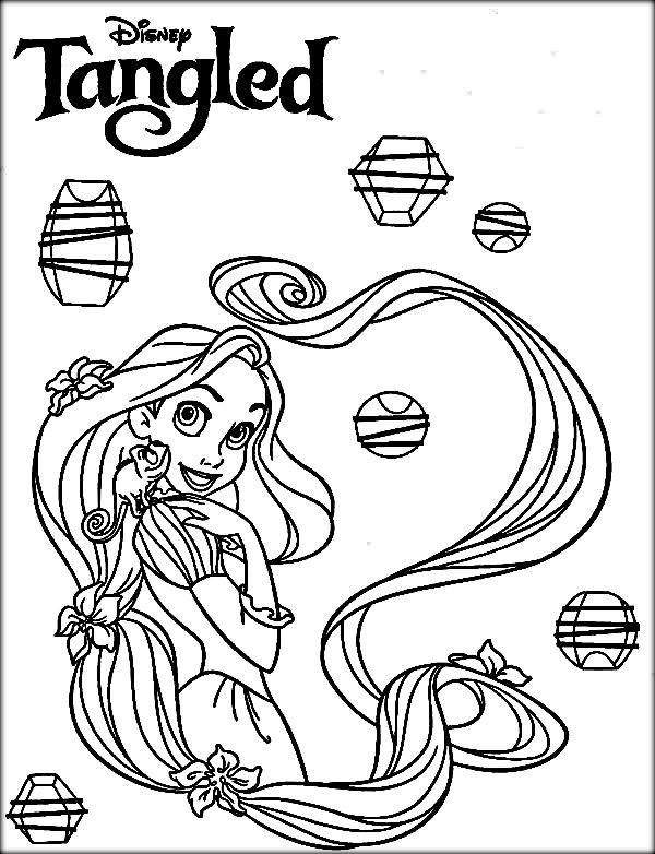 Disney Rapunzel Coloring Pages 600x782