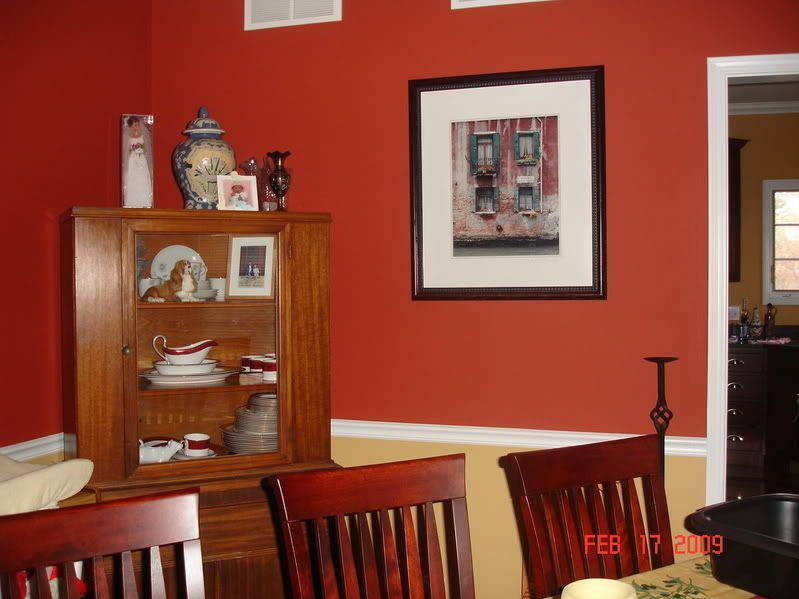 Burnt sienna wall color kitchen google search projects - Burnt orange feature wall living room ...