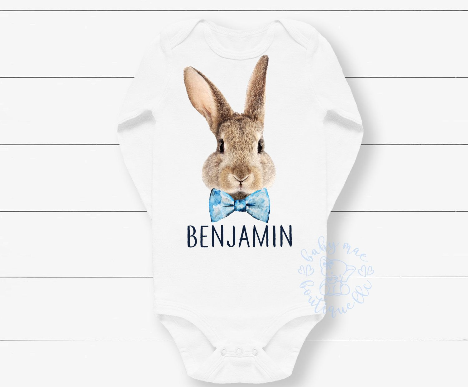 f22820c015f9 Easter Outfit Boy / Bunny with Bowtie Outfit / Easter Shorts Shirt /  Carter's® bodysuit; Gerber ® Onesies ® brand
