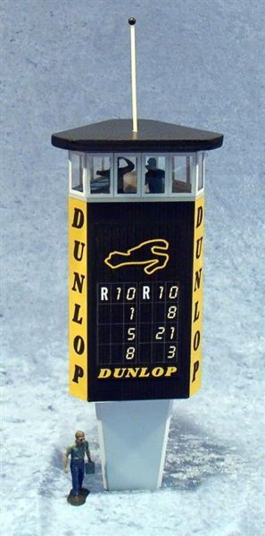 Nurburgring Dunlop Tower for Racing Diorama Free Paper Model Download…