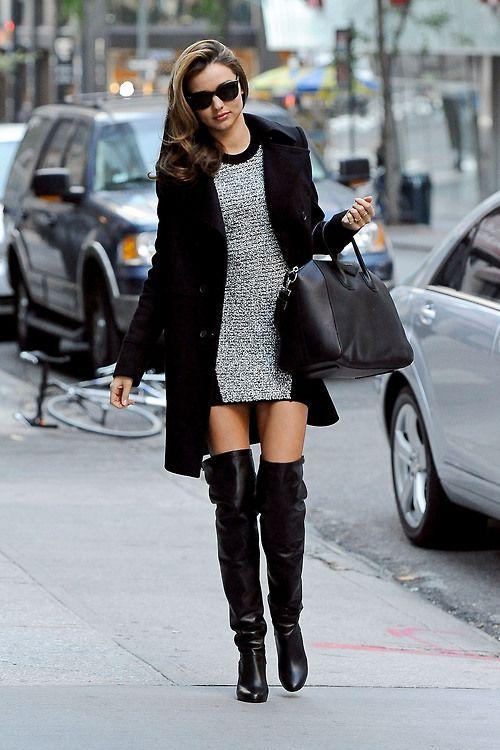 Miranda Kerr looking amazing in thigh high boots l wantering.com | Fashion,  Style, Winter fashion