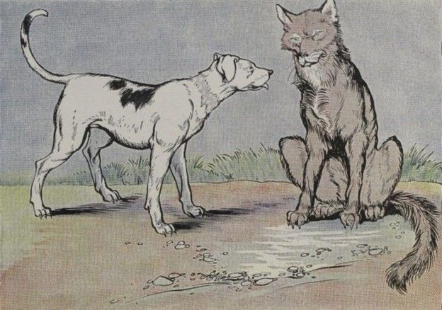 The Wolf And The House Dog Aesop Fables For Kids Aesop S