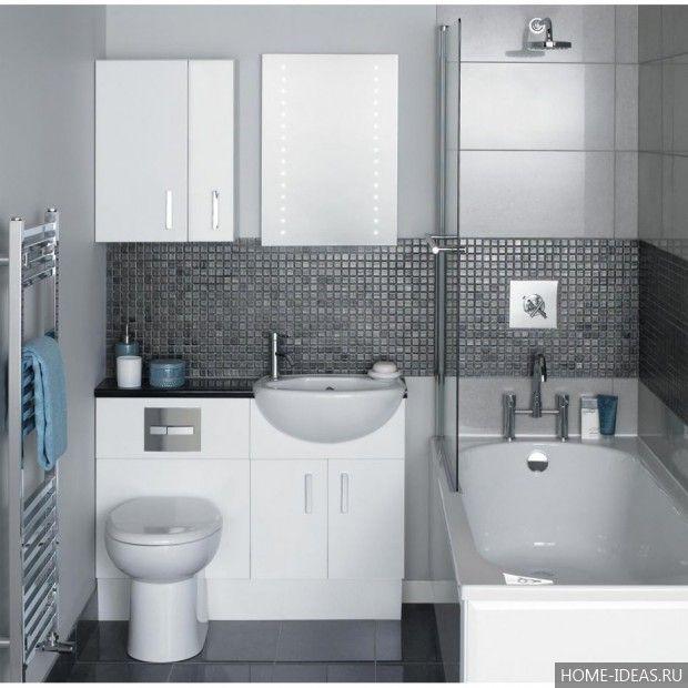 Дизайн маленькой ванны плиткой 131