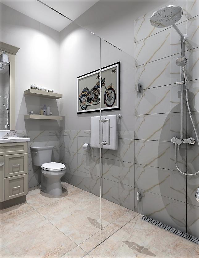 Glass Shower Bathroom Design And Renderings Using 2020 Design Software Kitchenetal 202 Bathroom Shower Design Bathroom Design Double Vanity Bathroom Remodel