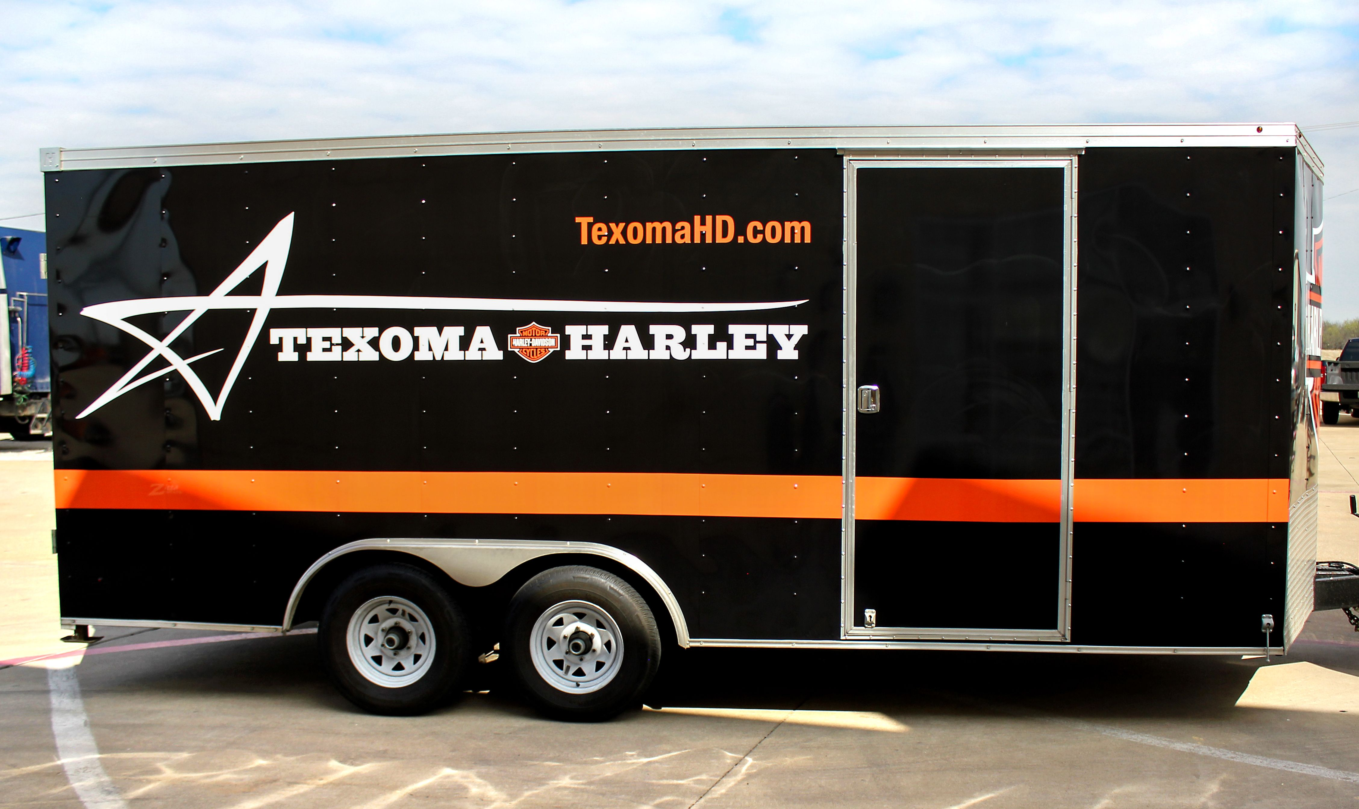 Texas Harley Trailer Trailer Wraps Pinterest