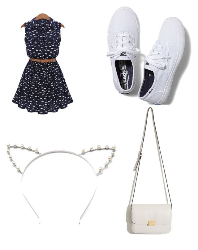 """""""kittys day out"""" by tamialashey ❤ liked on Polyvore featuring beauty, Keds and Candie's"""