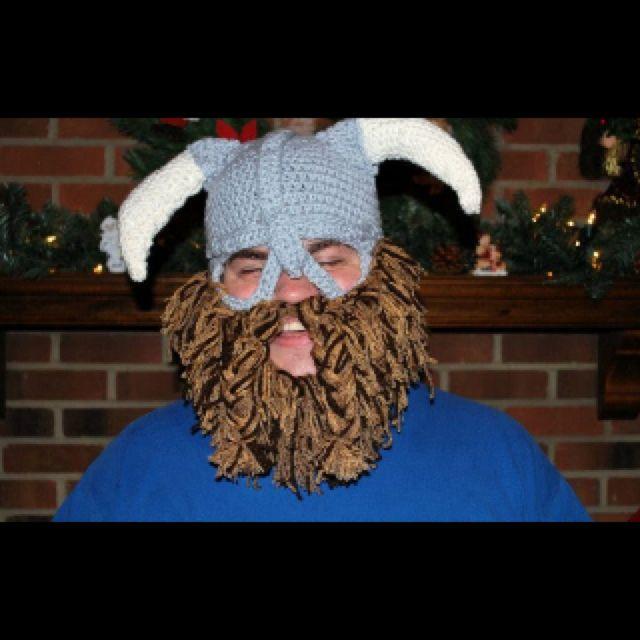 Viking/ Skyrim hat I crocheted for my brother. The beard took forever!
