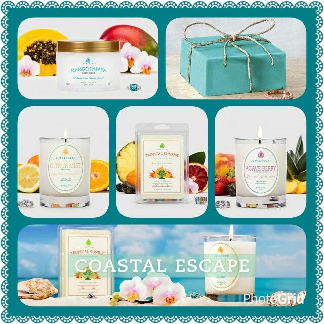 Want to escape to somewhere tropical? The Coastal Escape Collection will make ypur imagination wonder... www.jewelscent.com/mandee