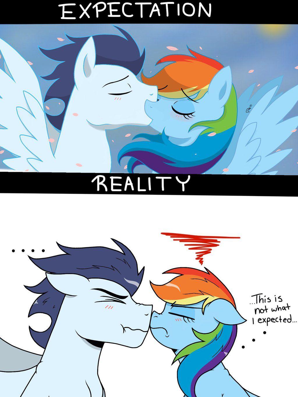 First Kiss My Little Pony Cartoon My Little Pony Comic Mlp My Little Pony